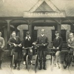 Clarence Park Baptist Church - cycle group - Roger Harding on right and Rev Cecil Thompson 3rd from right
